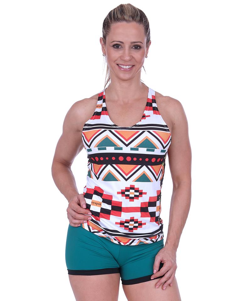 ae6e4807c9 Camiseta Regata feminina Étnica